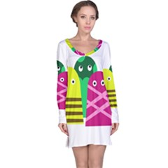 Three Mosters Long Sleeve Nightdress by Valentinaart