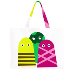 Three mosters Large Tote Bag by Valentinaart