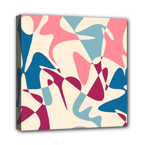 Blue, Pink And Purple Pattern Mini Canvas 8  X 8  by Valentinaart