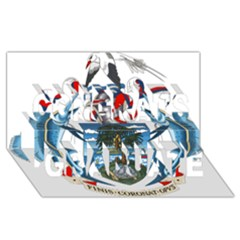 Coat Of Arms Of The Seychelles Congrats Graduate 3d Greeting Card (8x4) by abbeyz71