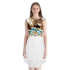 Coat Of Arms Of Mexico  Sleeveless Chiffon Dress   by abbeyz71