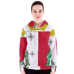 Coat Of Arms Of Malta  Women s Zipper Hoodie by abbeyz71