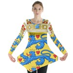 National Coat Of Arms Of Denmark Long Sleeve Tunic