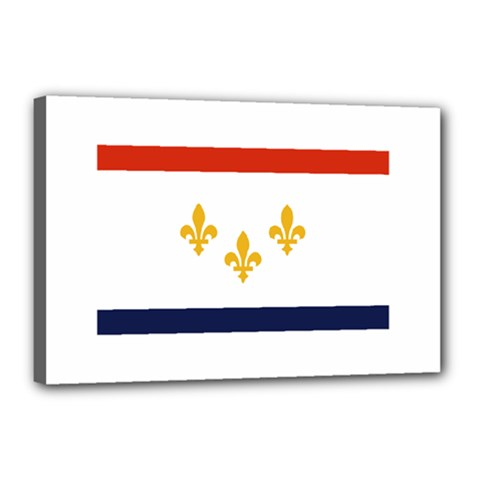 Flag Of New Orleans  Canvas 18  X 12  by abbeyz71