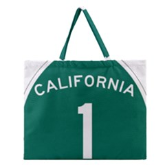 California 1 State Highway   Pch Zipper Large Tote Bag