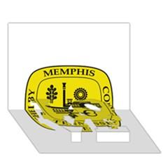 Seal Of Memphis  Love Bottom 3d Greeting Card (7x5) by abbeyz71
