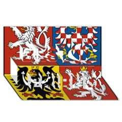 Coat Of Arms Of The Czech Republic Best Friends 3D Greeting Card (8x4) by abbeyz71