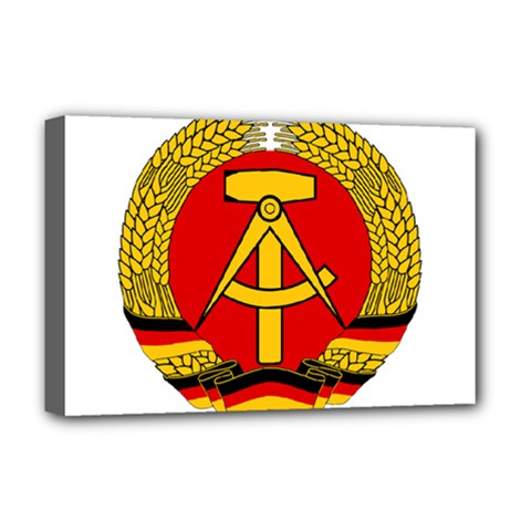 National Emblem Of East Germany  Deluxe Canvas 18  x 12   by abbeyz71