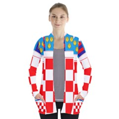 Coat Of Arms Of Croatia Women s Open Front Pockets Cardigan(P194) by abbeyz71