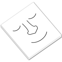Sleeping face Small Memo Pads by Valentinaart