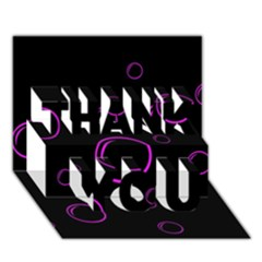 Purple Bubbles  Thank You 3d Greeting Card (7x5) by Valentinaart