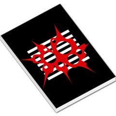 Red, Black And White Abstract Design Large Memo Pads by Valentinaart