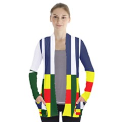 Four Provinces Flag Of Ireland Women s Open Front Pockets Cardigan(P194) by abbeyz71