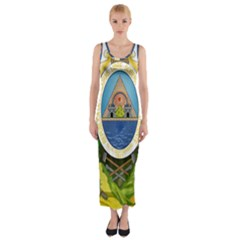 Coat Of Arms Of Honduras Fitted Maxi Dress