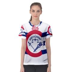 Flag Of Cincinnati Women s Sport Mesh Tee