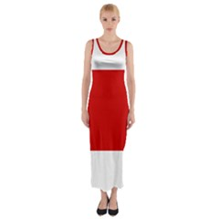 Flag Of The Soviet Union  Fitted Maxi Dress
