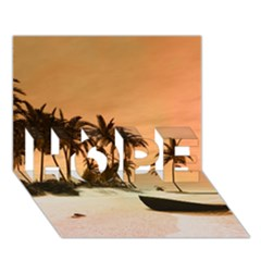 Wonderful Sunset Over The Beach, Tropcal Island Hope 3d Greeting Card (7x5) by FantasyWorld7