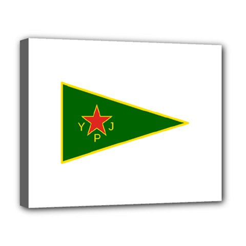 Flag Of The Women s Protection Units Deluxe Canvas 20  X 16   by abbeyz71