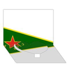 Flag Of The Women s Protection Units Heart Bottom 3d Greeting Card (7x5) by abbeyz71