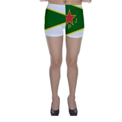 Flag Of The Women s Protection Units Skinny Shorts by abbeyz71