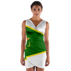 Flag Of The Women s Protection Units Wrap Front Bodycon Dress by abbeyz71