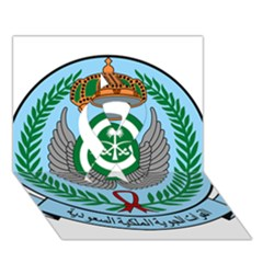 Emblem Of The Royal Saudi Air Force  Ribbon 3d Greeting Card (7x5) by abbeyz71
