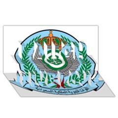 Emblem Of The Royal Saudi Air Force  Laugh Live Love 3d Greeting Card (8x4) by abbeyz71