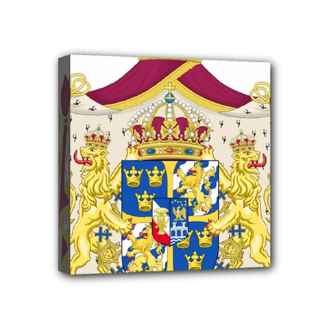 Greater Coat Of Arms Of Sweden  Mini Canvas 4  X 4  by abbeyz71