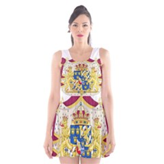 Greater Coat Of Arms Of Sweden  Scoop Neck Skater Dress by abbeyz71