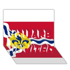 Flag Of St You Are Invited 3d Greeting Card (7x5) by abbeyz71