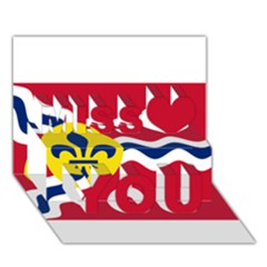 Flag Of St Miss You 3D Greeting Card (7x5)