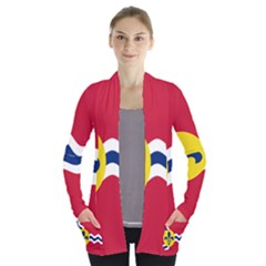 Flag Of St Women s Open Front Pockets Cardigan(p194) by abbeyz71