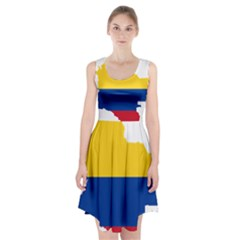 Flag Map Of Colombia Racerback Midi Dress by abbeyz71