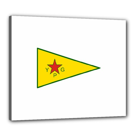 Flag Of The People s Protection Units Canvas 24  X 20  by abbeyz71