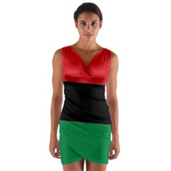 Pan African Flag  Wrap Front Bodycon Dress by abbeyz71