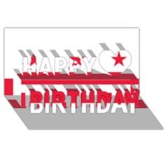 Flag Of Washington, Dc  Happy Birthday 3d Greeting Card (8x4) by abbeyz71
