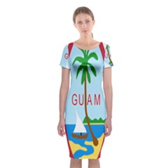 Seal Of Guam Classic Short Sleeve Midi Dress by abbeyz71
