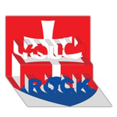 Slovak Air Force Roundel You Rock 3d Greeting Card (7x5) by abbeyz71