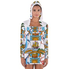 Coat of Arms of the Bahamas Women s Long Sleeve Hooded T-shirt by abbeyz71