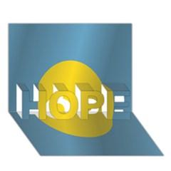 Flag of Palau HOPE 3D Greeting Card (7x5) by artpics