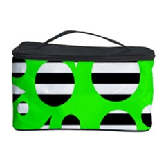 Green abstract design Cosmetic Storage Case by Valentinaart