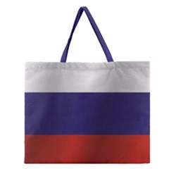 Flag Of Russia Zipper Large Tote Bag
