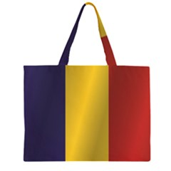 Flag Of Romania Large Tote Bag by artpics