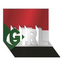 Flag Of Sudan GIRL 3D Greeting Card (7x5) by artpics