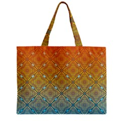 Ombre Fire And Water Pattern Zipper Mini Tote Bag by TanyaDraws