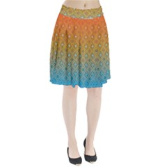 Ombre Fire and Water Pattern Pleated Skirt by TanyaDraws