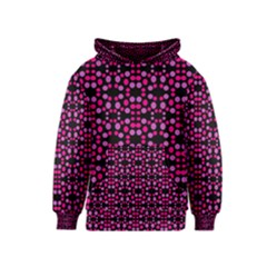 Dots Pattern Pink Kids  Pullover Hoodie by BrightVibesDesign