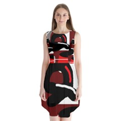 Crazy abstraction Sleeveless Chiffon Dress