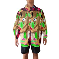 Abstract Animal Wind Breaker (kids) by Valentinaart