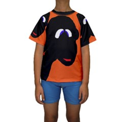 Black sheep Kid s Short Sleeve Swimwear by Valentinaart
